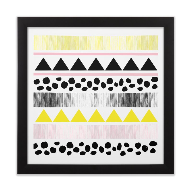 Vibrant Modern Bohemian in Framed Fine Art Print Black by prettyprismatic's Artist Shop