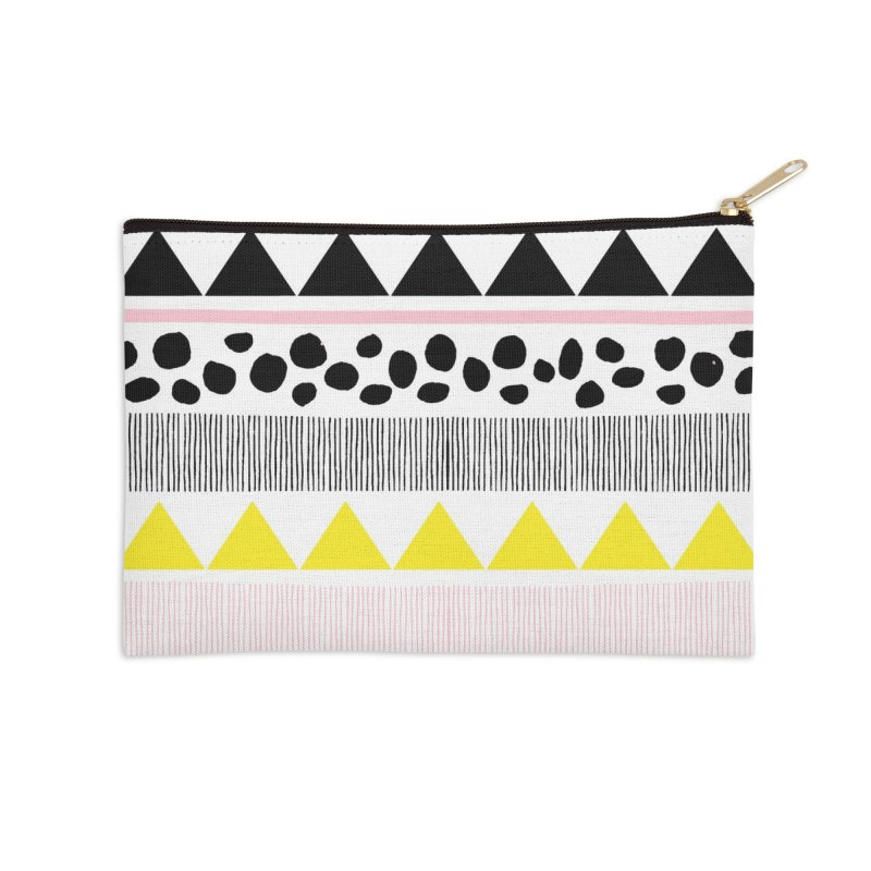 Vibrant Modern Bohemian Accessories Zip Pouch by prettyprismatic's Artist Shop