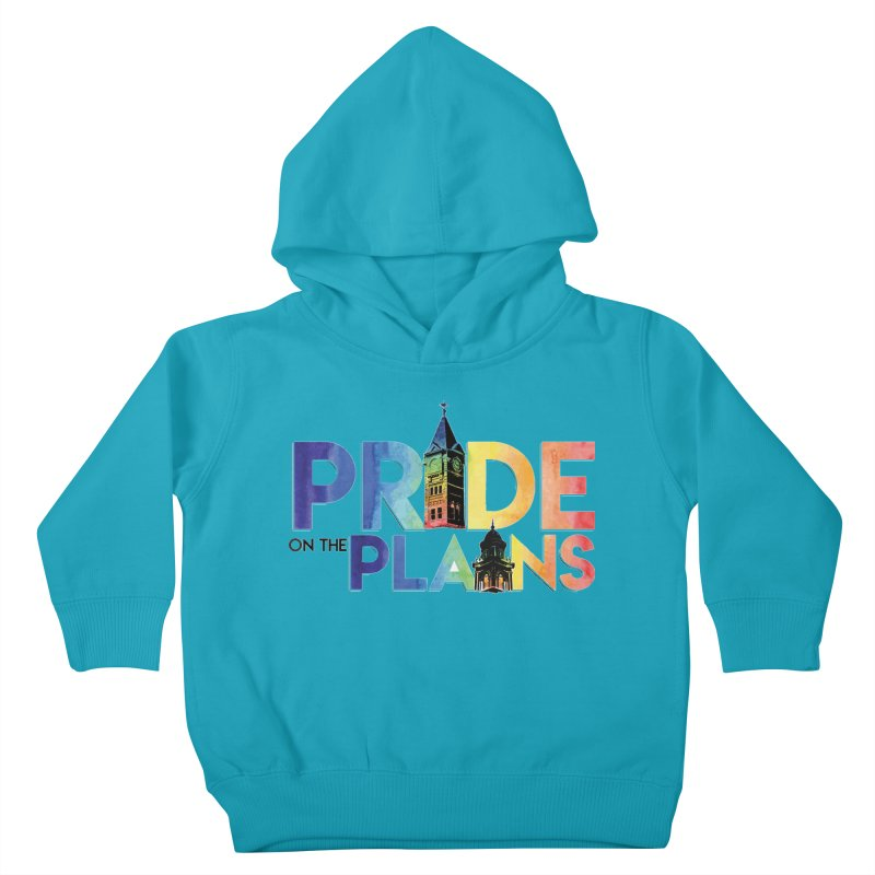 Pride on The Plains logo Kids Toddler Pullover Hoody by prideontheplains's Artist Shop