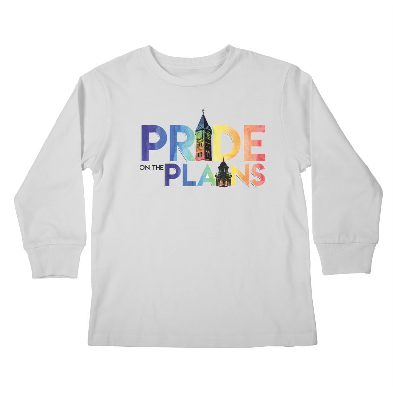 Pride on The Plains logo Kids Longsleeve T-Shirt by prideontheplains's Artist Shop
