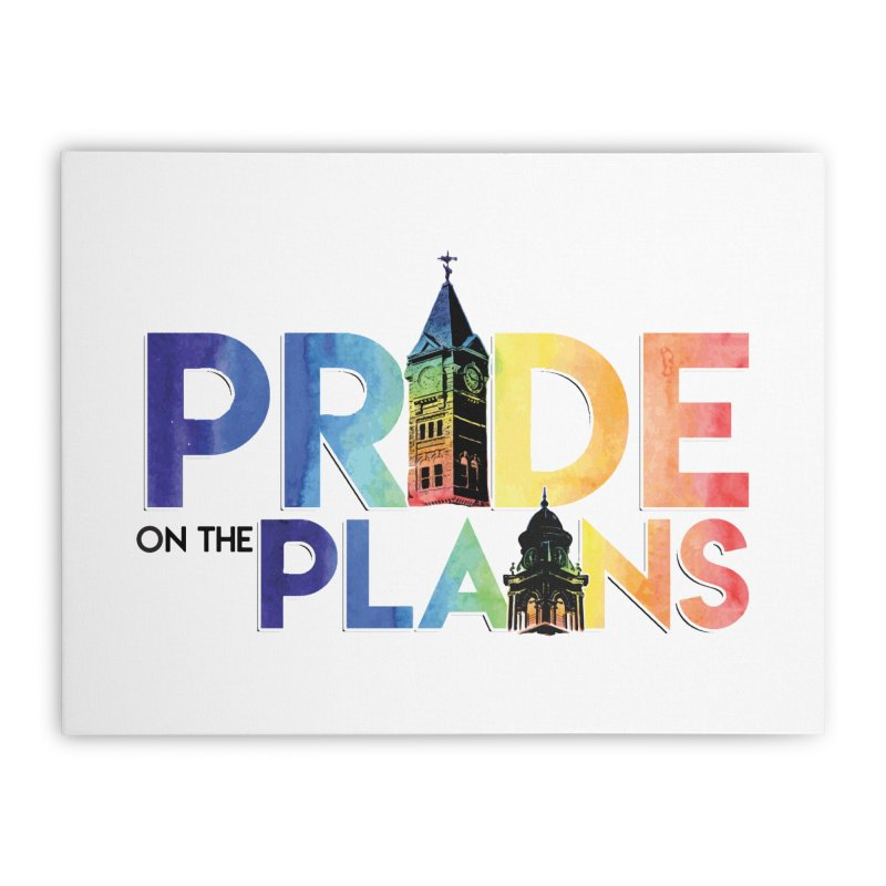 Pride on The Plains logo Home Stretched Canvas by prideontheplains's Artist Shop