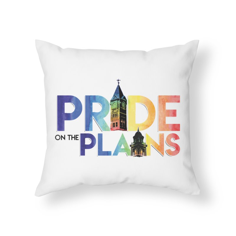 Pride on The Plains logo Home Throw Pillow by prideontheplains's Artist Shop