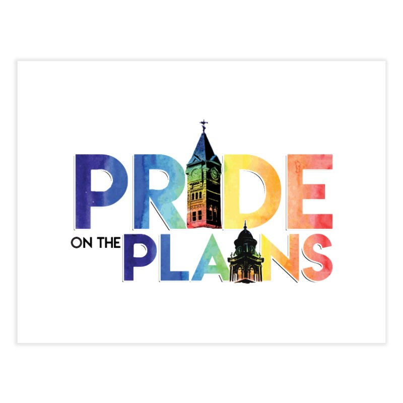 Pride on The Plains logo Home Fine Art Print by prideontheplains's Artist Shop