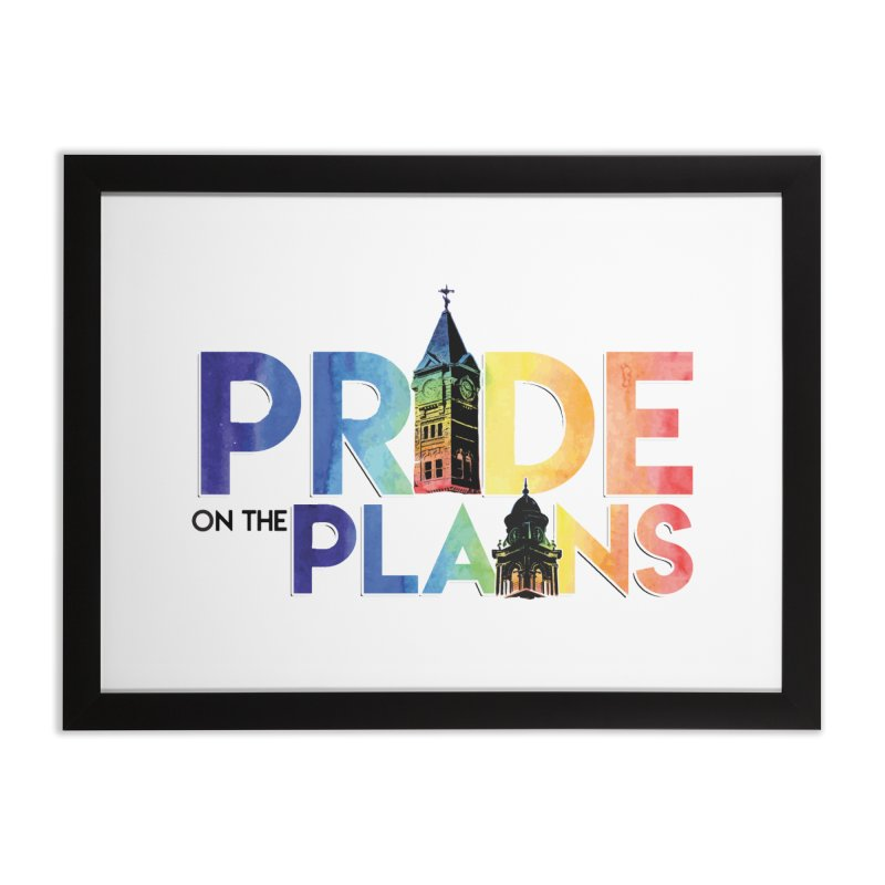 Pride on The Plains logo Home Framed Fine Art Print by prideontheplains's Artist Shop