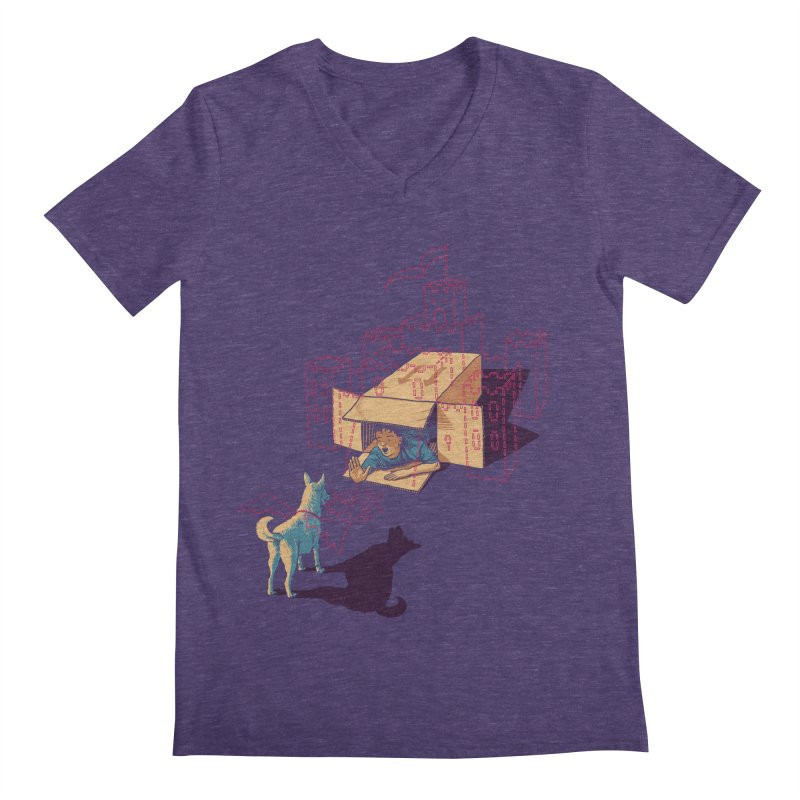 Halt! Who Goes There? Men's V-Neck by Primary Hughes Artist Shop