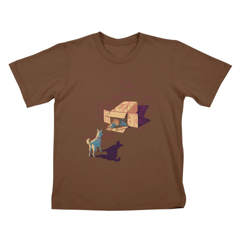 Halt! Who Goes There? Kids T-Shirt by Primary Hughes Artist Shop