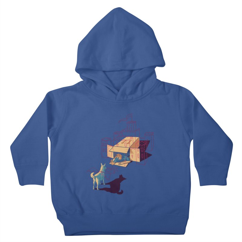 Halt! Who Goes There? Kids Toddler Pullover Hoody by Primary Hughes Artist Shop