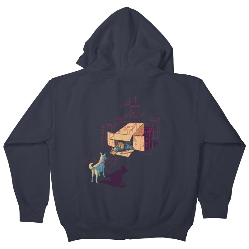 Halt! Who Goes There? Kids Zip-Up Hoody by Primary Hughes Artist Shop