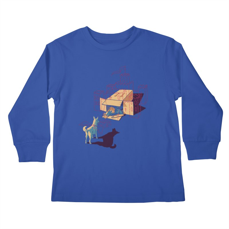 Halt! Who Goes There? Kids Longsleeve T-Shirt by Primary Hughes Artist Shop