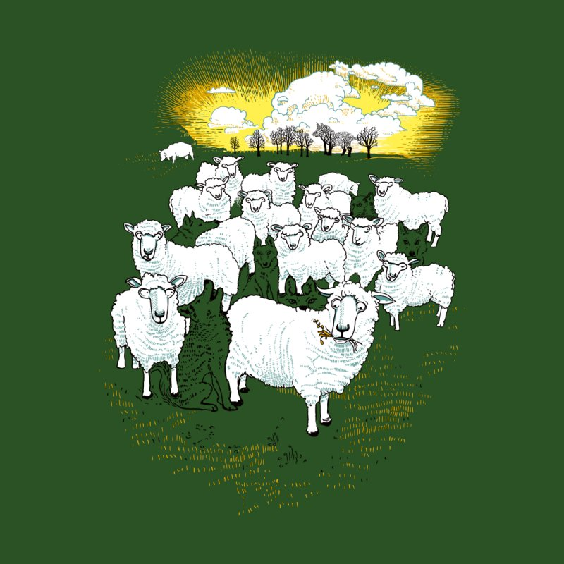 Hide & Sheep Women's V-Neck by Primary Hughes Artist Shop