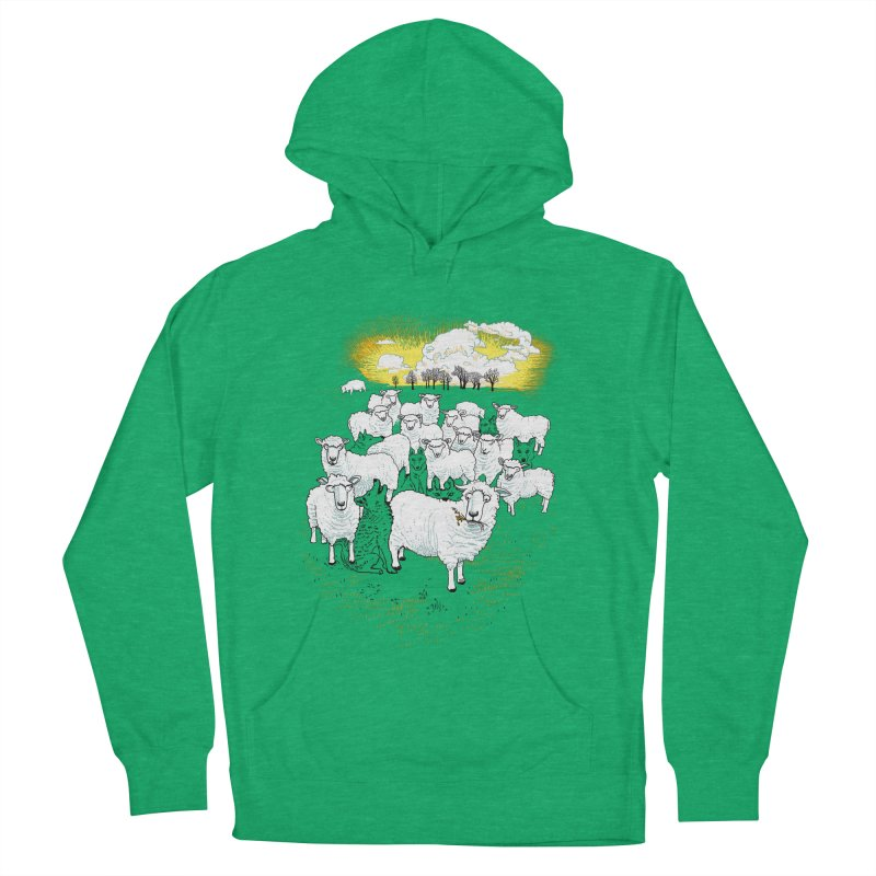 Hide & Sheep Women's French Terry Pullover Hoody by Primary Hughes Artist Shop