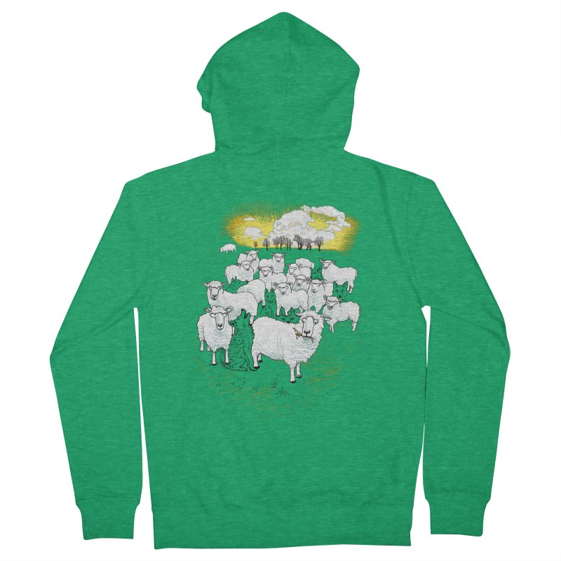 Hide & Sheep Women's Zip-Up Hoody by Primary Hughes Artist Shop