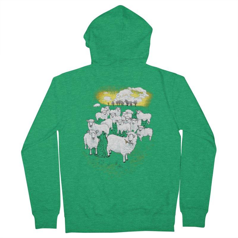 Hide & Sheep Men's Zip-Up Hoody by Primary Hughes Artist Shop