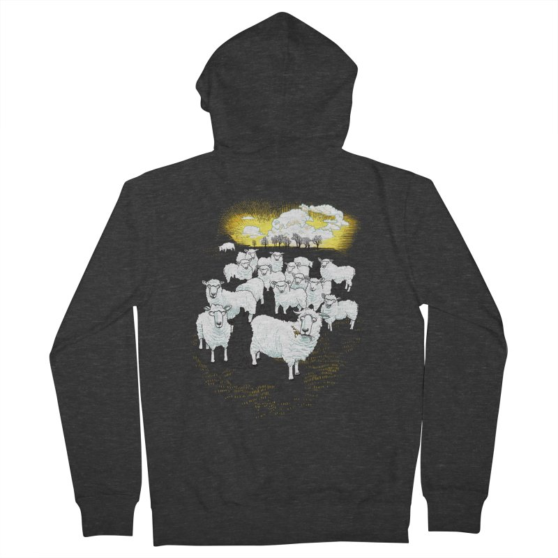 Hide & Sheep Men's Zip-Up Hoody by Primary Hughes Artist Shop
