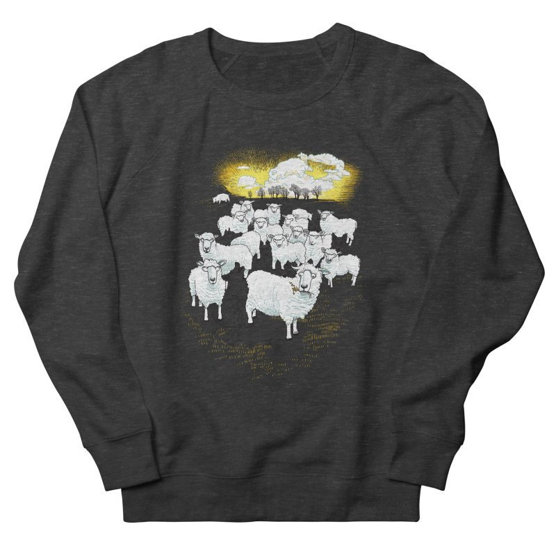Hide & Sheep Men's French Terry Sweatshirt by Primary Hughes Artist Shop