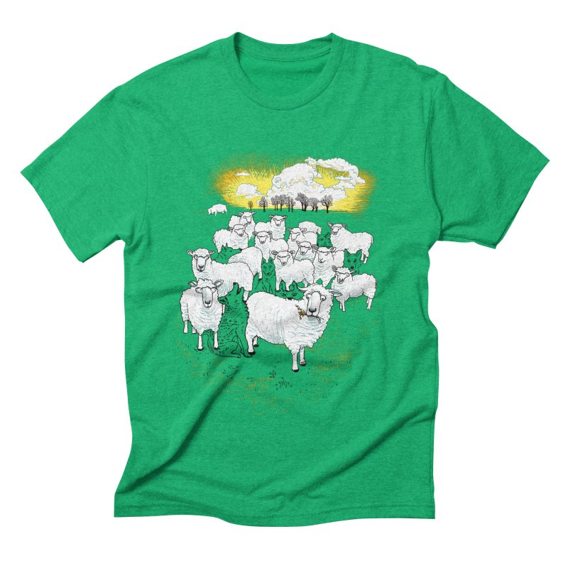 Hide & Sheep Men's Triblend T-shirt by Primary Hughes Artist Shop