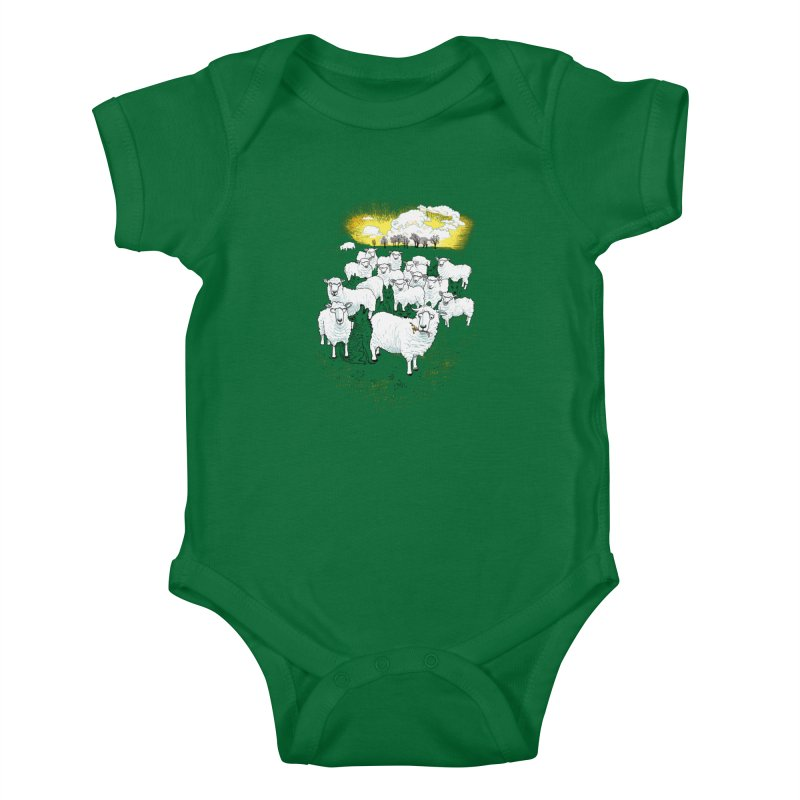 Hide & Sheep Kids Baby Bodysuit by Primary Hughes Artist Shop