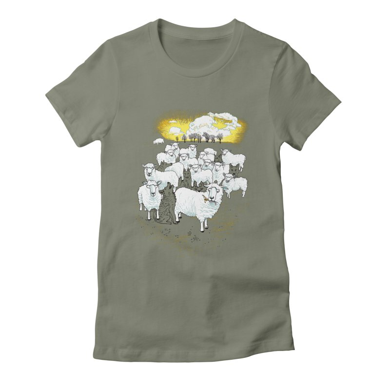 Hide & Sheep Women's Fitted T-Shirt by Primary Hughes Artist Shop