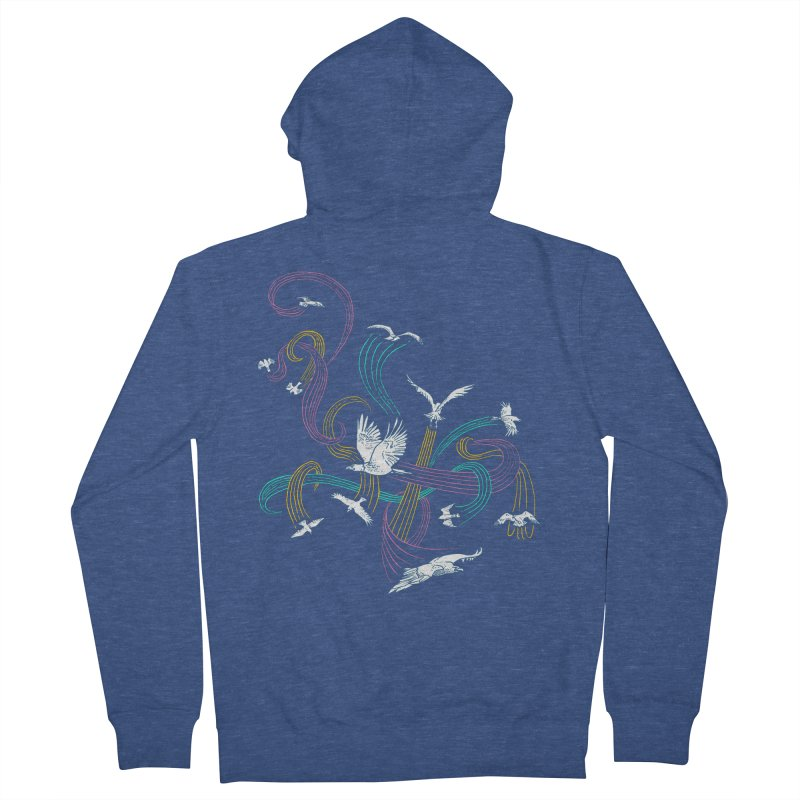 Holding Pattern Men's Zip-Up Hoody by Primary Hughes Artist Shop