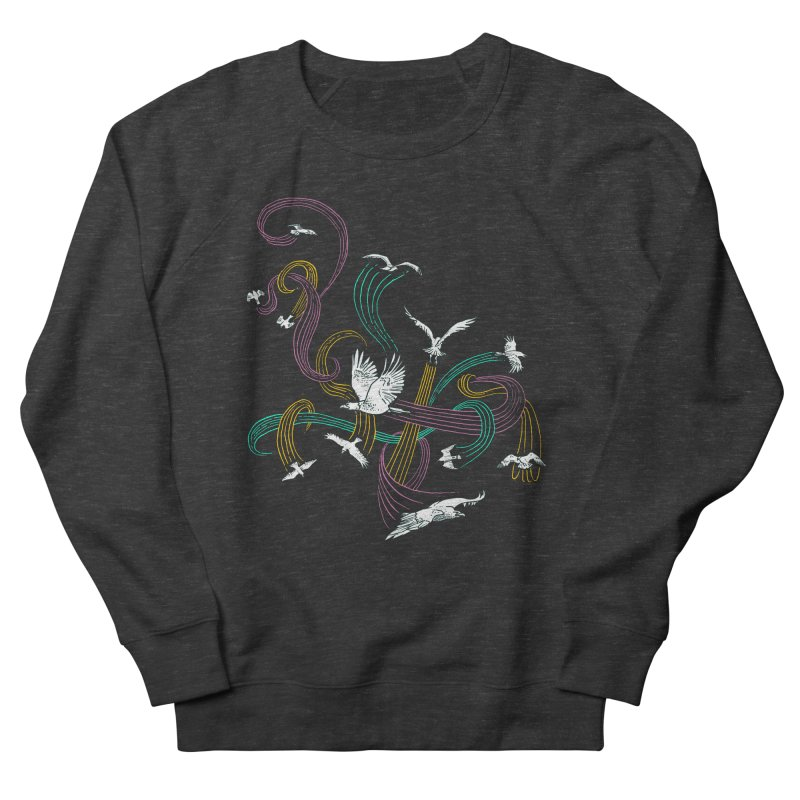 Holding Pattern Men's French Terry Sweatshirt by Primary Hughes Artist Shop