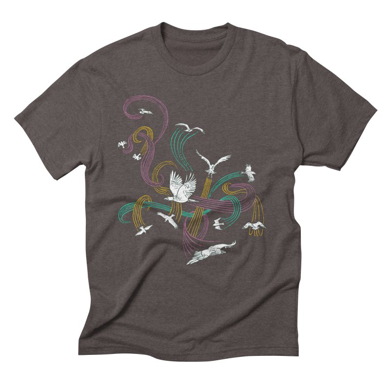Holding Pattern Men's Triblend T-Shirt by Primary Hughes Artist Shop