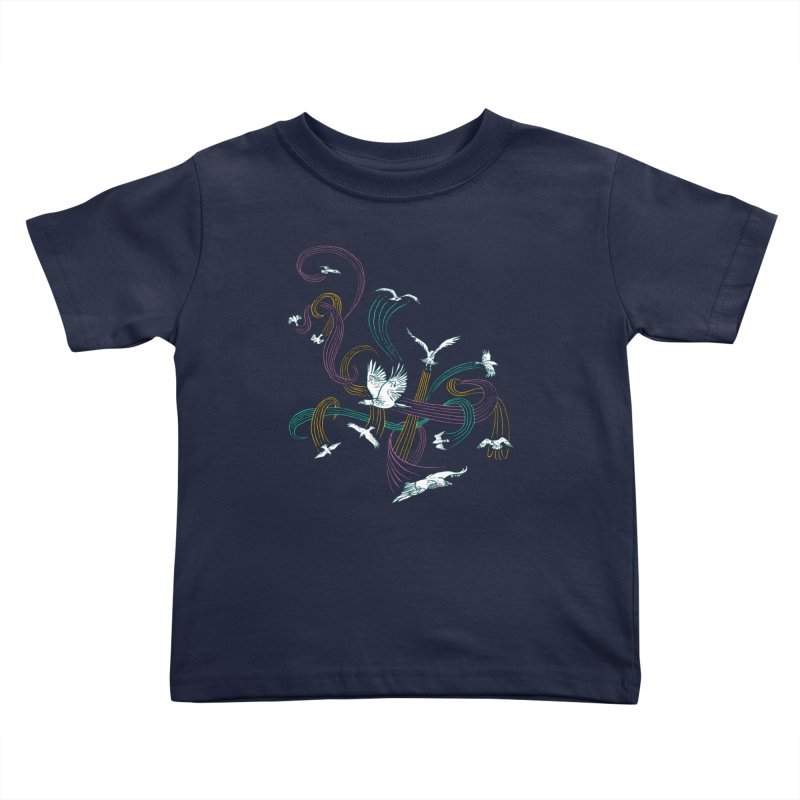 Holding Pattern Kids Toddler T-Shirt by Primary Hughes Artist Shop