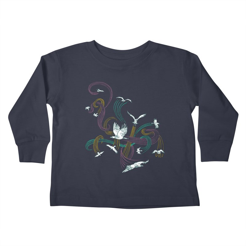 Holding Pattern Kids Toddler Longsleeve T-Shirt by Primary Hughes Artist Shop