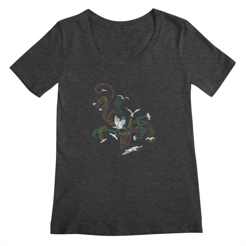 Holding Pattern Women's Scoopneck by Primary Hughes Artist Shop