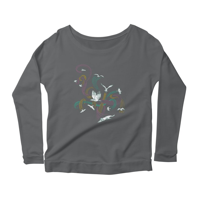 Holding Pattern Women's Longsleeve Scoopneck  by Primary Hughes Artist Shop