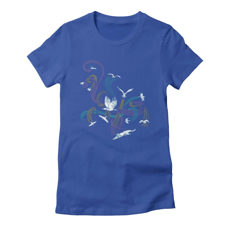 Holding Pattern Women's Fitted T-Shirt by Primary Hughes Artist Shop