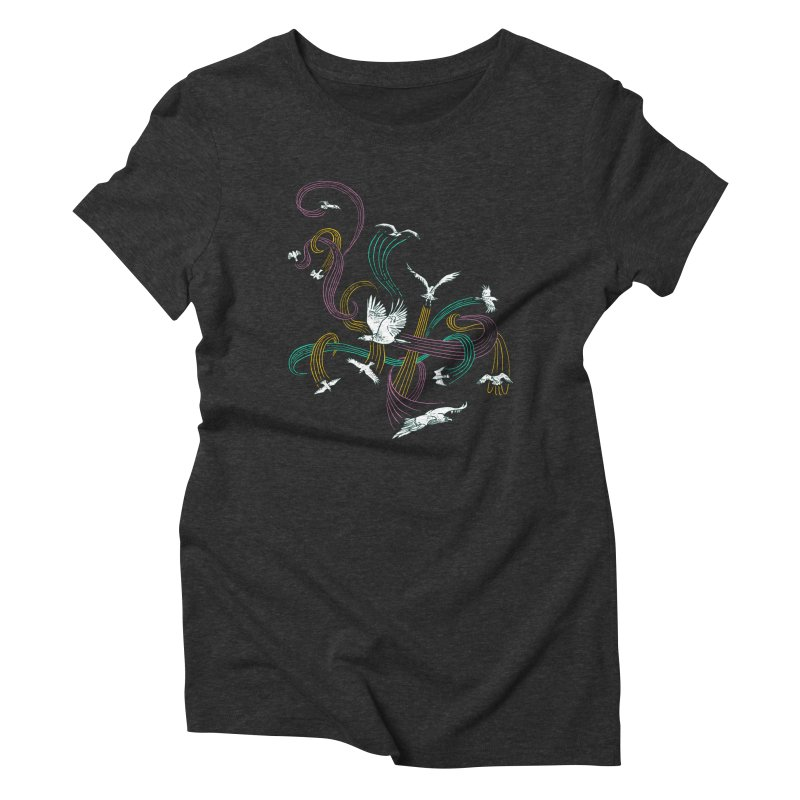 Holding Pattern Women's Triblend T-Shirt by Primary Hughes Artist Shop