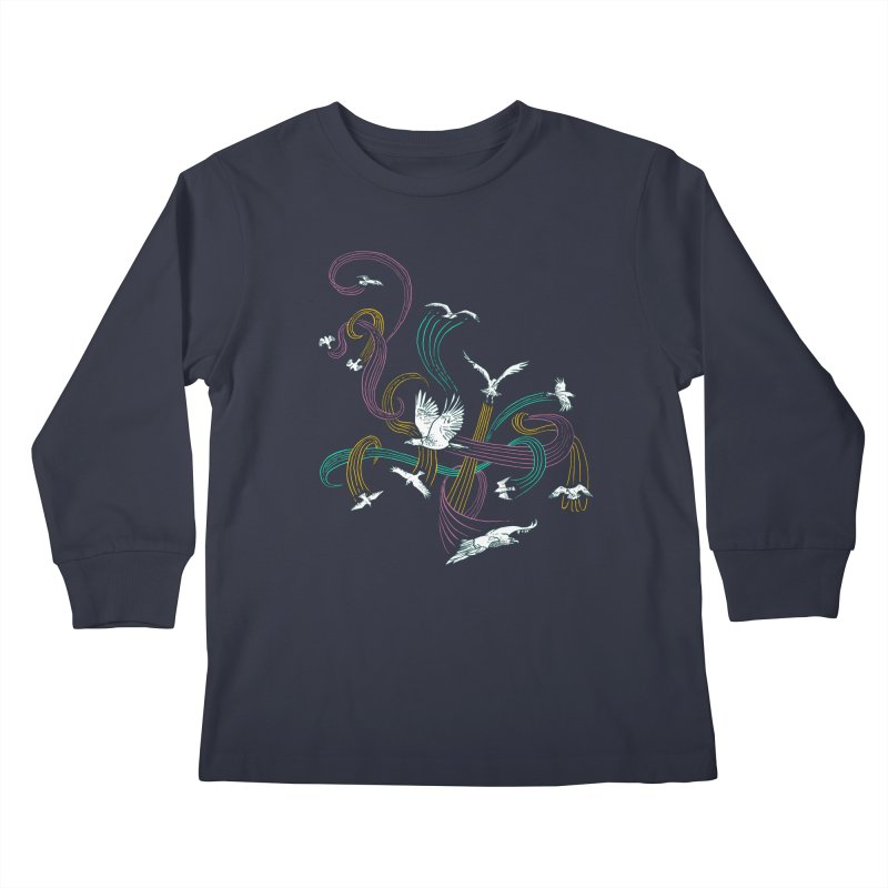 Holding Pattern Kids Longsleeve T-Shirt by Primary Hughes Artist Shop