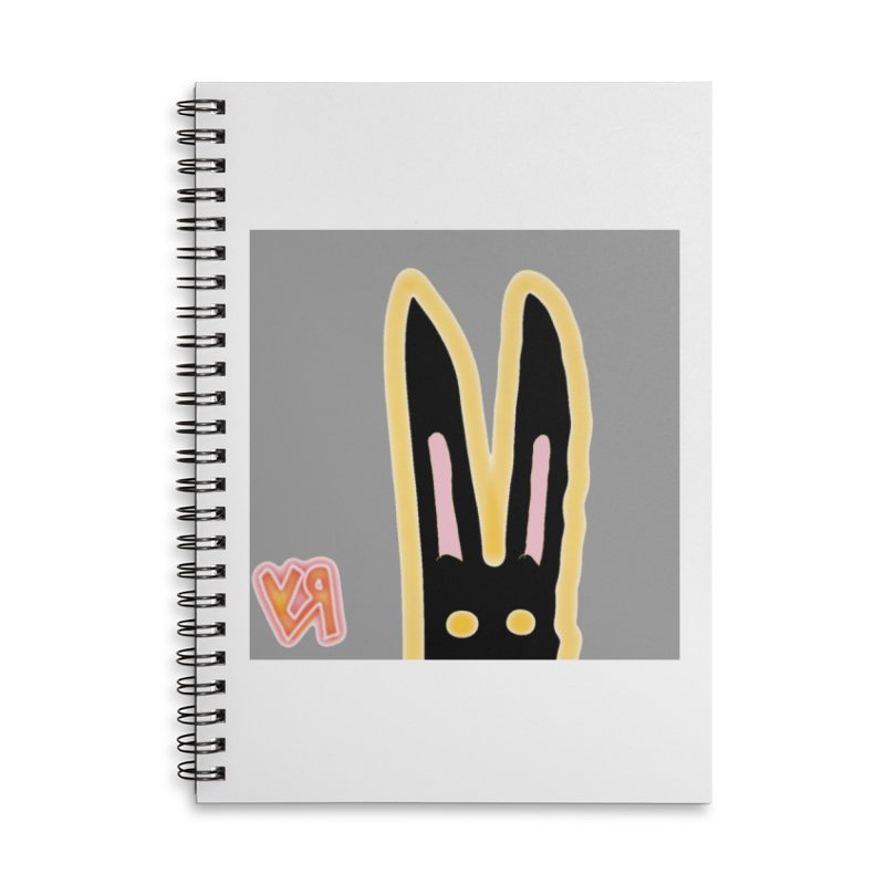 """""""Dark Bunny Plots and Waits..."""" by Richard F. Yates Accessories Notebook by The Primitive Entertainment Workshop!"""