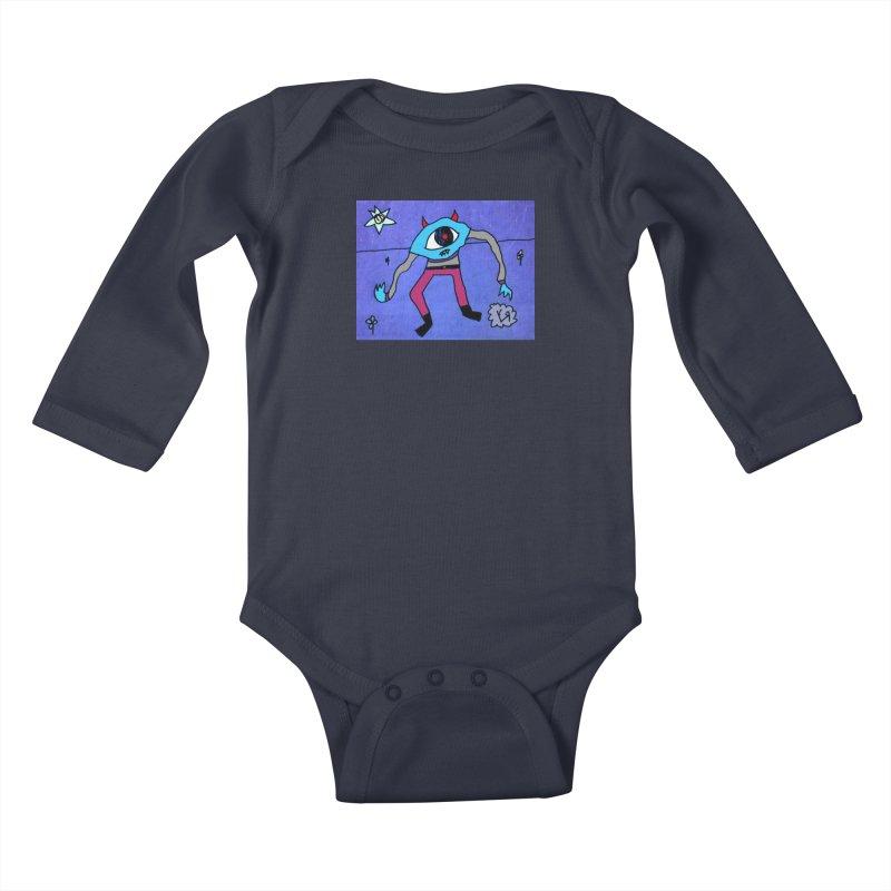 """Trepidatious Eyeball"" by Richard F. Yates Kids Baby Longsleeve Bodysuit by The Primitive Entertainment Workshop!"