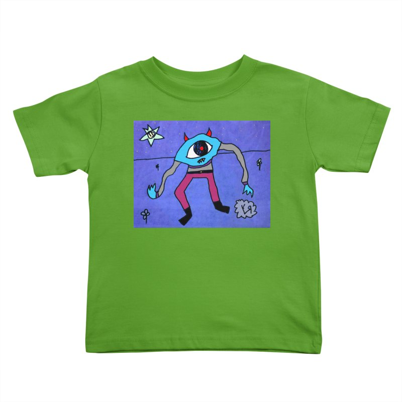 """Trepidatious Eyeball"" by Richard F. Yates Kids Toddler T-Shirt by The Primitive Entertainment Workshop!"