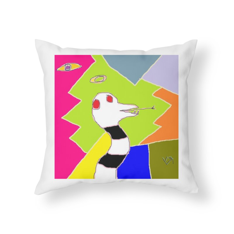 """""""St. Snakus Maximus"""" by Richard F. Yates Home Throw Pillow by The Primitive Entertainment Workshop!"""