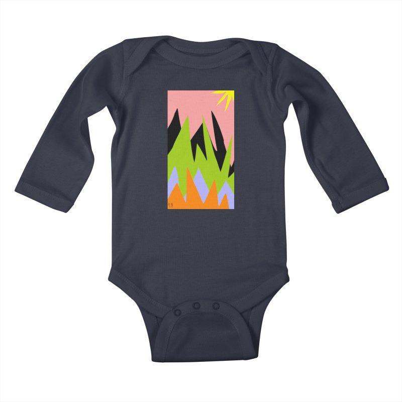 """Happy Death Mountains"" by Richard F. Yates Kids Baby Longsleeve Bodysuit by The Primitive Entertainment Workshop!"