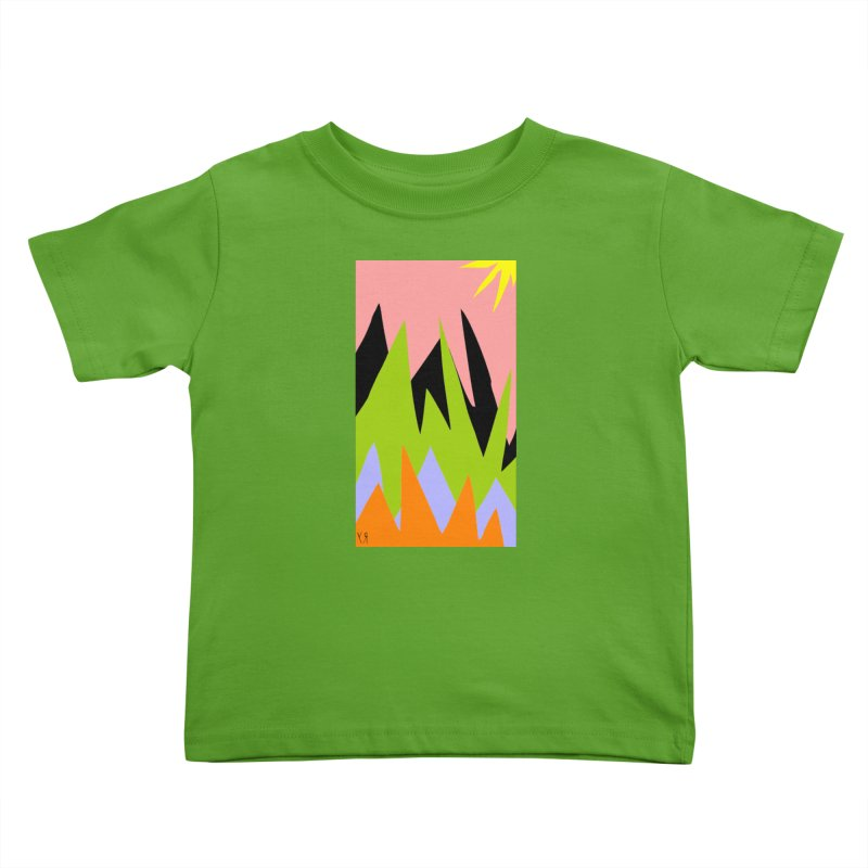 """""""Happy Death Mountains"""" by Richard F. Yates Kids Toddler T-Shirt by The Primitive Entertainment Workshop!"""