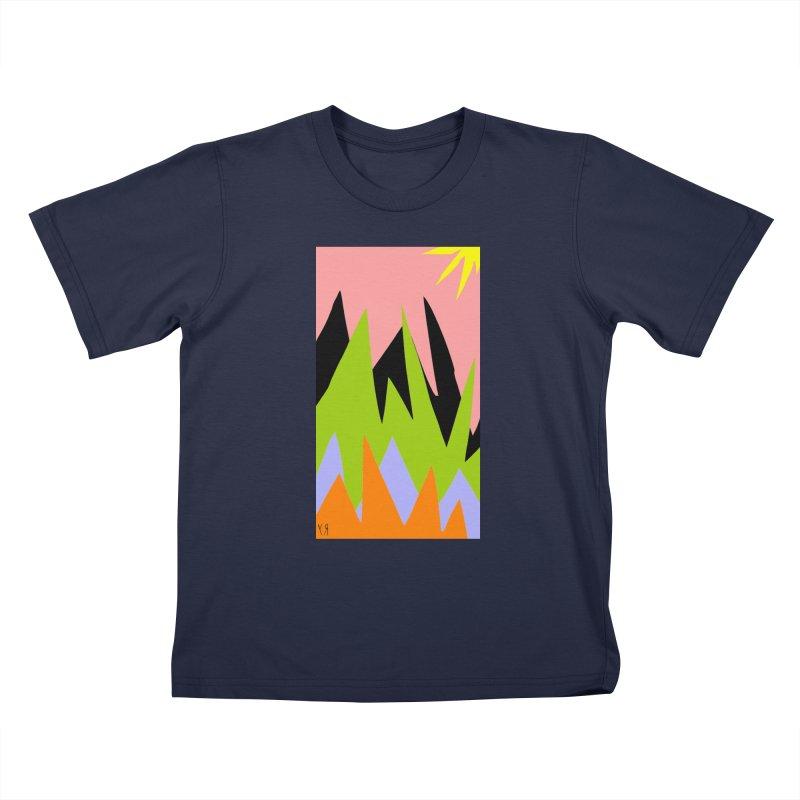 """Happy Death Mountains"" by Richard F. Yates Kids T-Shirt by The Primitive Entertainment Workshop!"