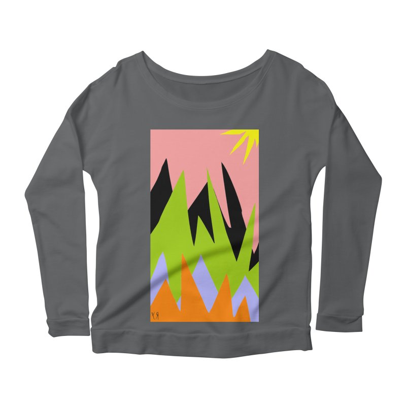 """Happy Death Mountains"" by Richard F. Yates Women's Longsleeve T-Shirt by The Primitive Entertainment Workshop!"