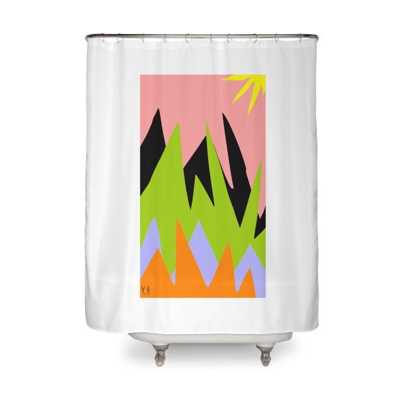 """Happy Death Mountains"" by Richard F. Yates Home Shower Curtain by The Primitive Entertainment Workshop!"