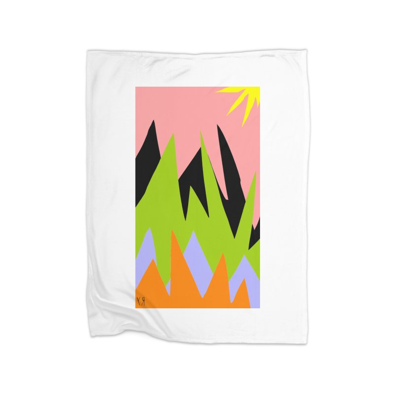 """""""Happy Death Mountains"""" by Richard F. Yates Home Blanket by The Primitive Entertainment Workshop!"""