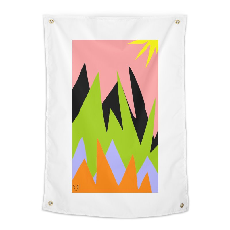 """""""Happy Death Mountains"""" by Richard F. Yates Home Tapestry by The Primitive Entertainment Workshop!"""