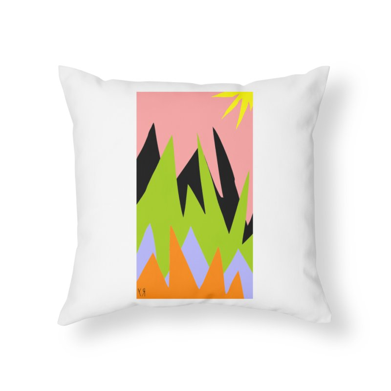 """Happy Death Mountains"" by Richard F. Yates Home Throw Pillow by The Primitive Entertainment Workshop!"
