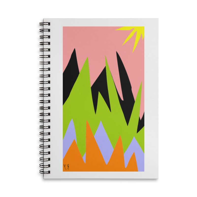 """Happy Death Mountains"" by Richard F. Yates Accessories Notebook by The Primitive Entertainment Workshop!"