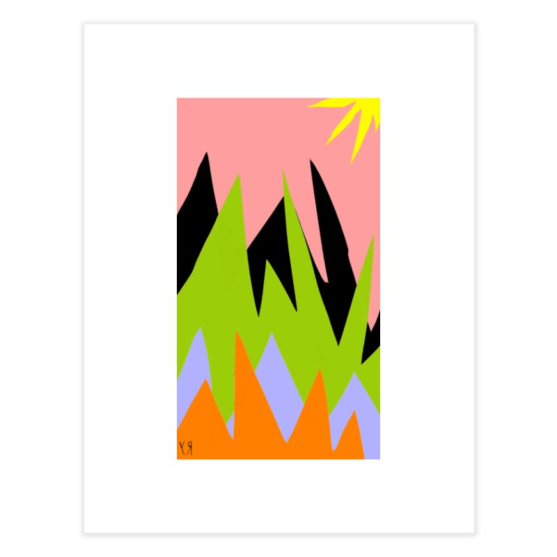 """Happy Death Mountains"" by Richard F. Yates Home Fine Art Print by The Primitive Entertainment Workshop!"