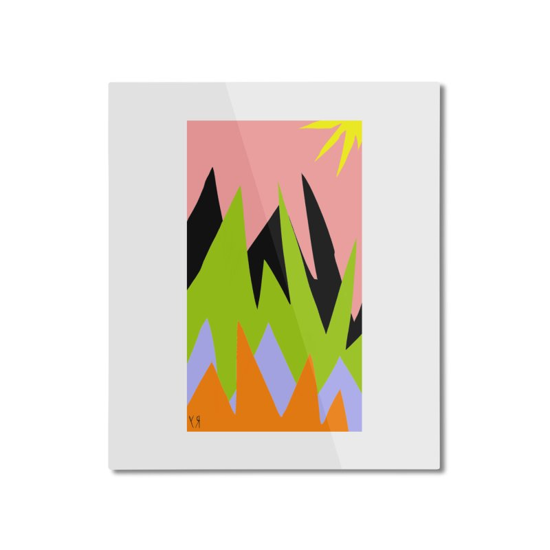 """""""Happy Death Mountains"""" by Richard F. Yates Home Mounted Aluminum Print by The Primitive Entertainment Workshop!"""