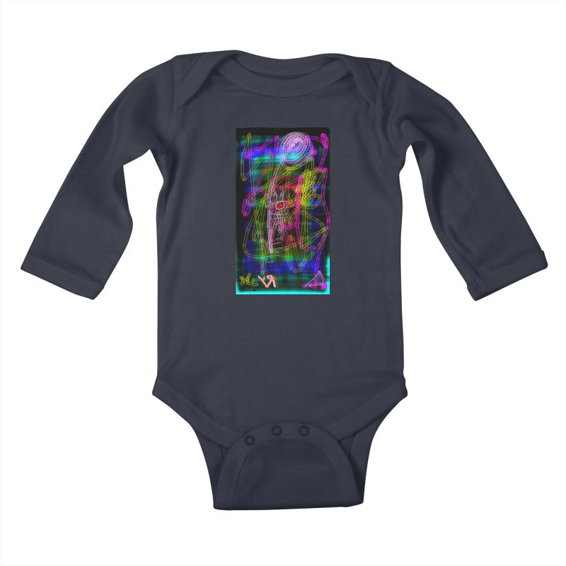 """""""My Robot's Broken (Your Necklace is Too Long)"""" by Richard F. Yates Kids Baby Longsleeve Bodysuit by The Primitive Entertainment Workshop!"""