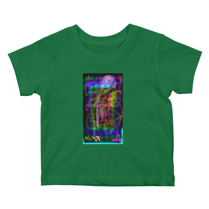 """""""My Robot's Broken (Your Necklace is Too Long)"""" by Richard F. Yates Kids Baby T-Shirt by The Primitive Entertainment Workshop!"""