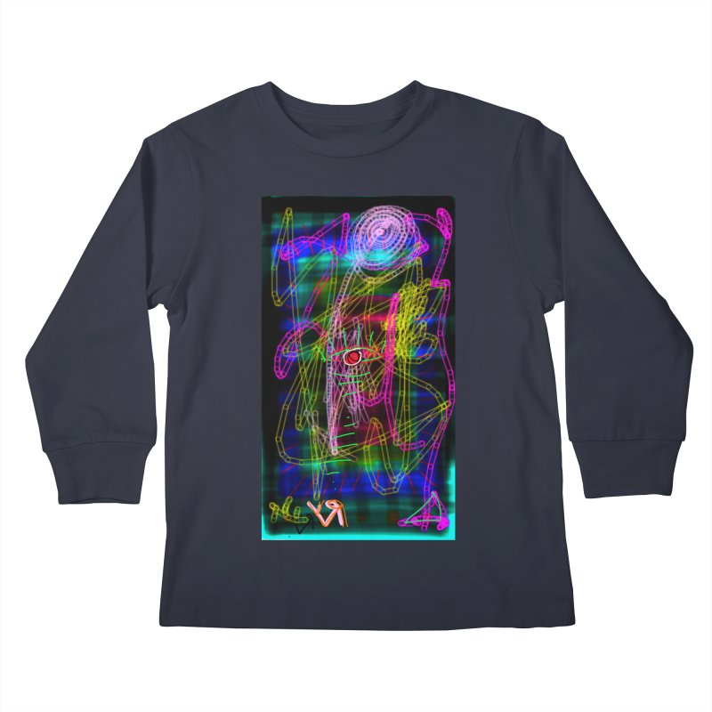 """""""My Robot's Broken (Your Necklace is Too Long)"""" by Richard F. Yates Kids Longsleeve T-Shirt by The Primitive Entertainment Workshop!"""